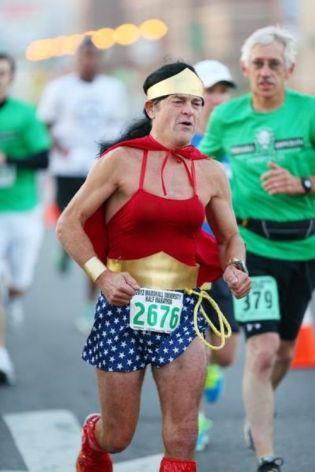 wonder woman at the marathon