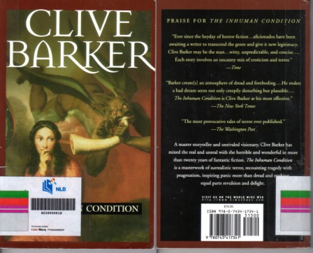 Clive Barker_The Inhuman Condition_front and back