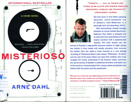 Misterioso by Arne Dahl_front and back cover