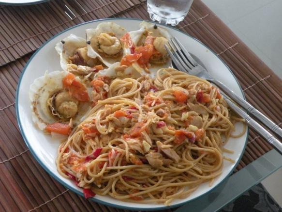 spaghetti alle capesante