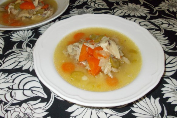 Chicken soup cooked 3rd Jan 2015
